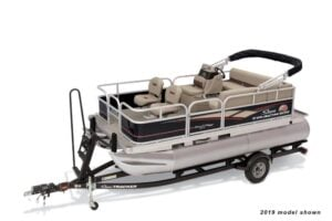 electric pontoon boat sun tracker bass buggy dlx et
