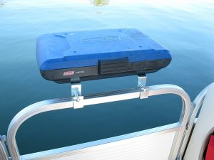 coleman camp stone pontoon boat grill with arnall bracket