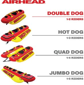 Best Pontoon Towable Tubes Airhead Hot Dog 5 Person