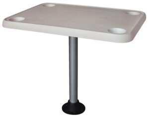 The Rectangle Pontoon Boat Table From Furniture Manufacturer Wise Is A Great Fit For Owners That Need Large Top 23 Inches Wide
