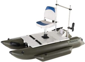 best one man pontoon boats aquos heavy duty 7.5