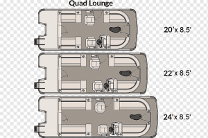 how wide is a standard pontoon boat