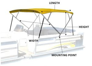 Pontoon Boat Canopy Enclosures Bimini Tops