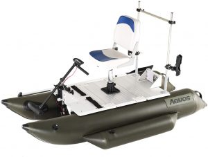 Small Pontoon Boat with Trolling Motor Aquos 7.5 with trolling motor