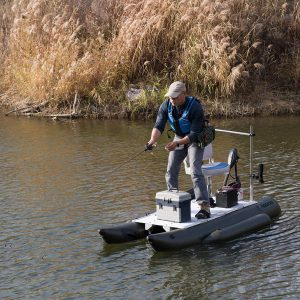 Small Pontoon Boat with Trolling Motor AQUOS 7.5