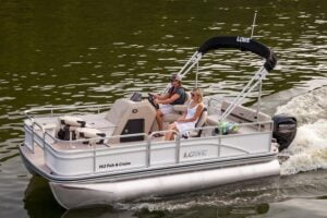 best pontoon boat for the money under $15,000 Lowe Ultra 162 Fish N Cruise