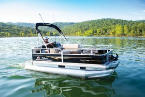 best pontoon boat for the money under 15,000 Sun Tracker Bass Buggy 16